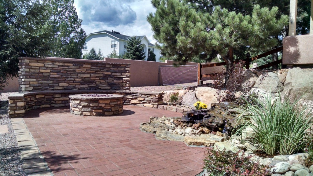 Flagstone Bench Firepits Naturescapes
